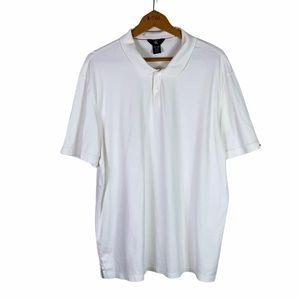 Calvin Klein White Jersey Polo Shirt Size XXL